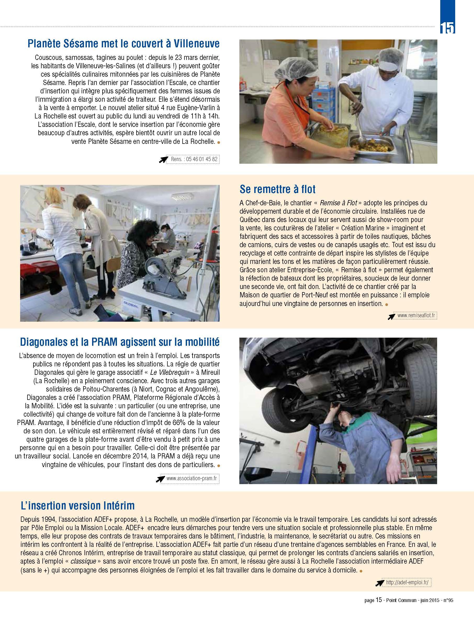 Article Magazine Agglo La Rochelle sur la PRAM